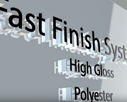 The fast finish system for painted high gloss surfaces