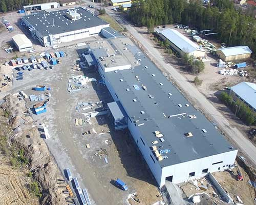 New production hall in Karis