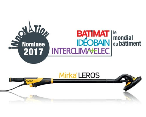 Mirka<sup>®</sup> LEROS, one of the Innovation Awards 2017 nominees