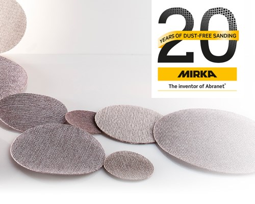 Mirka celebrates 20 years of dust-free sanding
