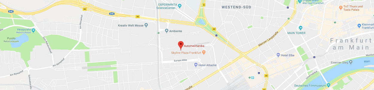 Automechanika 2018 Mirka Map