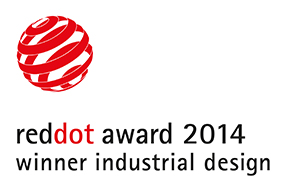 Red dot award 2014 logo.