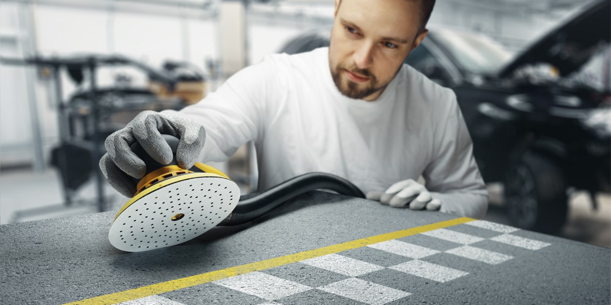 Mirka's abrasive Iridium is perfected for speed and efficiency and a great choice for bodyshops and professionals in the automotive refinishing industry.