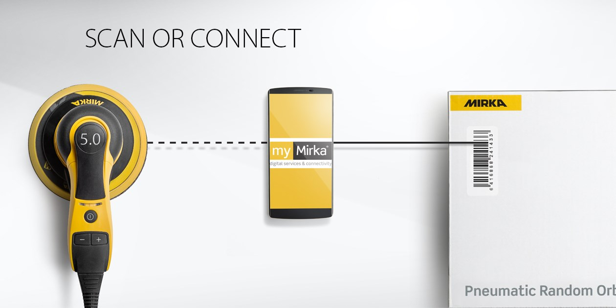 Mirka's digital services adds value through myMirka app and Dashboard for example track vibrations when sanding