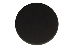 Polishing Foam Pad 180x25mm Black Flat, 2/Pack