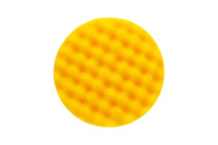 Polishing Foam Pad 135x25mm Yellow Waffle,10/Pack