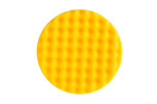 Polishing Foam Pad 150x25mm Yellow Waffle, 1/Pack