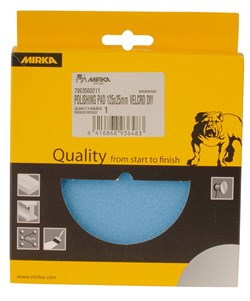 Polishing Foam Pad 125x25mm Grip Blue Flat, 1/Pack