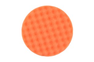 Polersvamp 150x25mm Orange Våfflad, 2/frp