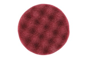 Polishing Foam Pad 85x25mm Burgundy Waffle,20/Pack
