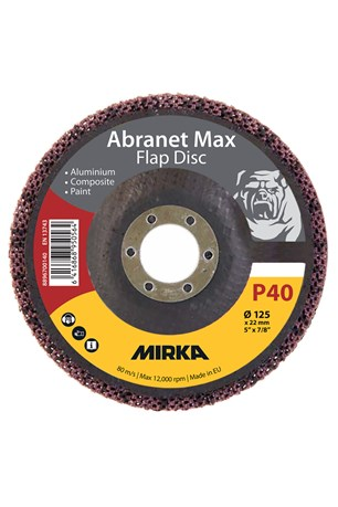 Abranet Max Flap disc T29 125mm ALOX 40