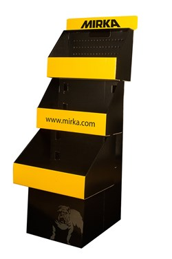 Display Carton Board Black 3 Compartments