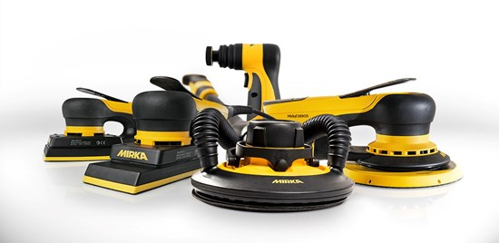 Mirka has sanders and polishers for surface finishing.