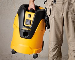 Mirka's new compact dust extractor 1025 L for both wet and dry applications